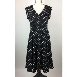 ModCloth Womens Dress X-Large Black Polka A19-06Z